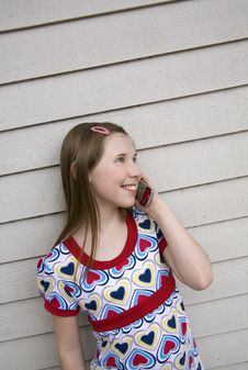 Free Chatting On Cell Phone 2 Royalty Free Stock Image - 2369976