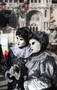 Free Two Mask In Venice Carnival Stock Photos - 23605003