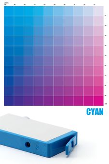 Free CYAN Ink Color Stock Image - 23600381
