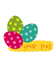Free Simple Easter Illustration Three Colorful Eggs Royalty Free Stock Photos - 23600408