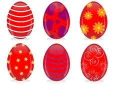 Free Colorful Easter Eggs Royalty Free Stock Photo - 23600665