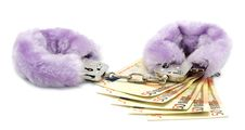 Free Euros And Handcuffs Royalty Free Stock Photo - 23601785