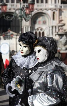Two Mask In Venice Carnival