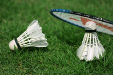Free Shuttlecock And Badminton Stock Images - 23605574