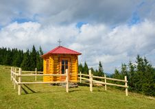 Free Wooden Chapel In The Carpathian Mountains. Stock Photography - 23606272