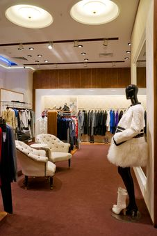 Interior Of Shop Stock Images