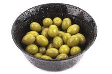 Free Many Green Olives In A Bowl, Stock Photo - 23607690