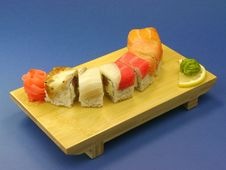 Free Sushi With Salmon And Eel Royalty Free Stock Image - 23608286