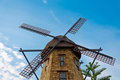 Free Windmill In The Blue Sky Stock Image - 23611011