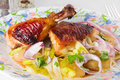 Free Roast Duck With Vegetables Stock Photos - 23614723