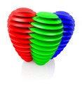 Free Sliced RGB Balls Stock Images - 23618244