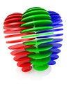 Free Sliced RGB Balls Royalty Free Stock Images - 23618249