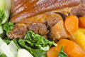 Free Stewed Ham Hock Served With Vegetables Royalty Free Stock Photos - 23619038