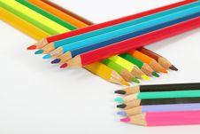 Free Arranged Wooden Color Pens Stock Photos - 23610523
