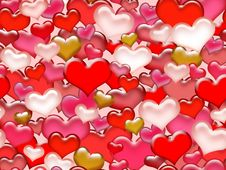 Free Seamless Valentine S Day Pattern. Stock Photography - 23612822