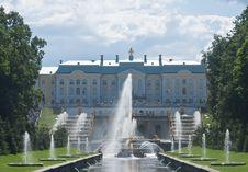 Free Grand Cascade Fountains At Peterhof Palace Garden Royalty Free Stock Photos - 23612928