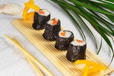 Free Japanese  Sushi Roll On Table Stock Photos - 23614743