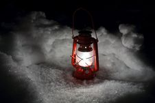 Free Lantern Snow Royalty Free Stock Image - 23614826