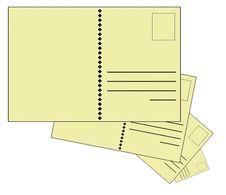 Blank Postcards Stock Photo