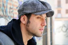 Free Handsome Man Wearing A Retro Cap Stock Photo - 23616150
