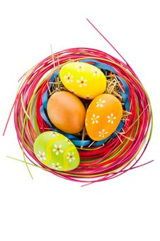 Easter Eggs And Decoration Stock Photo