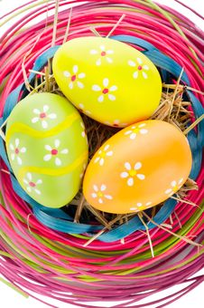 Easter Eggs And Decoration Stock Image