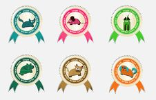 Vector Labels With Pets Royalty Free Stock Photography