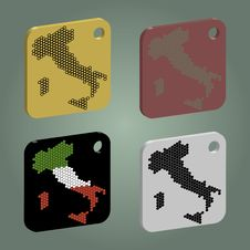 Free Badges Set With Italy Map Royalty Free Stock Photos - 23617108