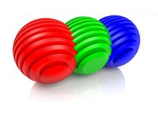 Free Sliced RGB Balls Stock Photos - 23618243