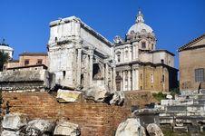 The Forum Romano Royalty Free Stock Photos