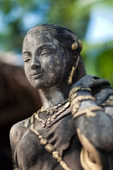 Free Asian Female Statue Stock Photos - 23620833