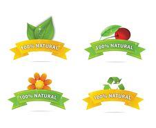 Glass Nature Elegance Symbols Set Stock Photos