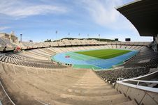 Free Olympic Stadium In Barcelona Stock Photography - 23622352