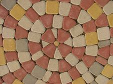 Color Cobblestone Road Royalty Free Stock Images