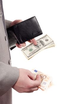 Money In The Hands Of Stock Photography