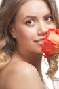 Free Beautiful Woman With Rose Stock Photography - 23636192