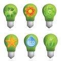 Free Abstract Creative Eco Bulb Sign Set Royalty Free Stock Image - 23637526