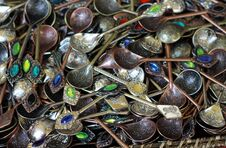 Free Decorative Teaspoon Royalty Free Stock Photo - 23630365