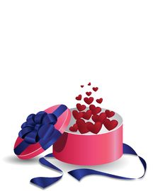 Free Valentine S Gift Box Of Hearts Royalty Free Stock Image - 23630786