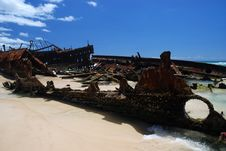 Free Maheno Shipwreck Royalty Free Stock Image - 23631106