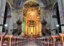 Free Church Interior Colorful Light Stock Photos - 23637103