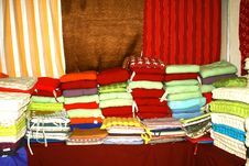 Free Colorful Cotton Fabrics Royalty Free Stock Photos - 23637928