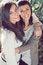 Free Two Joyful Sisters Royalty Free Stock Image - 23637146