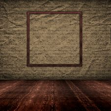 Free Vintage Empty Interior With Grunge Paper Wall Royalty Free Stock Photos - 23640068