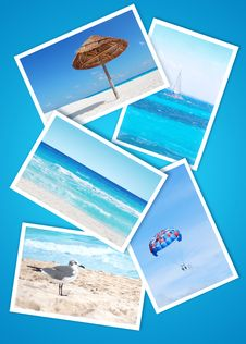 Free Beach Holidays Collage Royalty Free Stock Images - 23640689