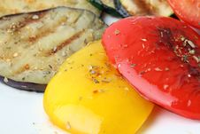 Free Grilled Vegetables Close Up Stock Image - 23641971