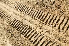 Free Tire Tracks In Sand Stock Photo - 23643610