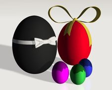 Free Colored Easter Eggs Family Royalty Free Stock Photos - 23644038