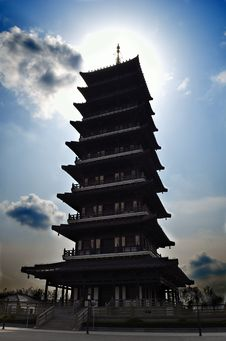 Sunshine Pagoda Stock Image