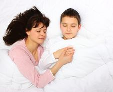 Free Mother And Son Sleeping Stock Images - 23645964